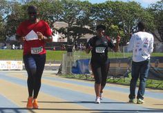 Ndabezitha Mancoba and 1330 Bulela Yoyo -Legends Marathon 2014 photo by selina vickerman-prince. Marathon, Legends, Sporty, Tops, Style, Fashion, Moda, Fashion Styles, Shell Tops