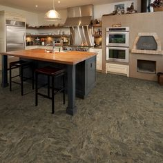 Caldera Hermosa Stone, Hallmark Luxury Vinyl Flooring Collection by Hallmark Floors.