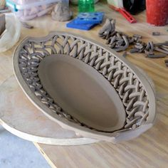 Woven Oval Bowl
