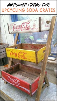 Upcycled Soda Crate Projects For The Rustic Home