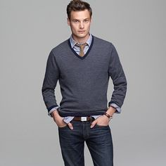 J. Crew cotton-cashmere v-neck sweater $65 — No wonder it sold out. It's awesome.
