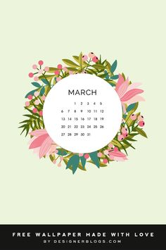 Enjoy this month's wallpaper on all of your devices! March Backgrounds, Tech Background, Blog Planner, Happy Spring, Designer Wallpaper, Free Printables, Calendar, Bible, Wallpapers