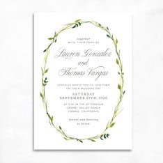 Delicate Wreath Wedding Invitations