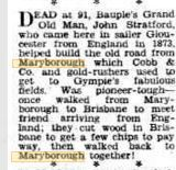 1944 Death of Mr John Stratford. Brisbane, To Tell, Old Things, Death, History, Historia