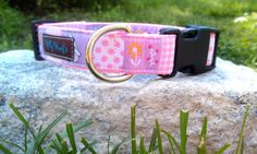 """Bunny 1 Inch Width Dog Collar by WillyWoofs on Etsy  Medium= 13""""- 18"""" 1"""" width Large = 16""""-23"""" 1"""" width"""