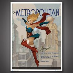 DC Bombshells Supergirl Art Print  These DC Bombshell art prints are stunning!