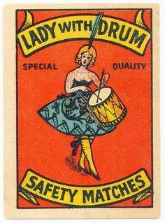 Women drummer poster
