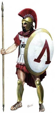 Спартанский гоплит сер. 5 века до н.э.