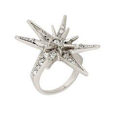 Crystal Star Ring