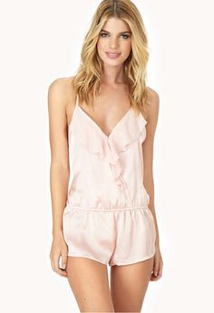 e83f1a9883 Flounced Sleep Romper   FOREVER21 - 2000062780 - for someday One Piece  Lingerie, Underwear Shop