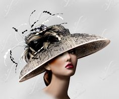 Kentucky Derby Tiffany Brim with Signature Feather by ffortissimo