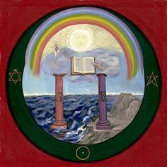 "4. Apocalypse Seal: The two pillars, Jaochim and Boaz - from the book ""Art Inspired by Rudolf Steiner: An Illustrated Introduction"" by John Fletcher"