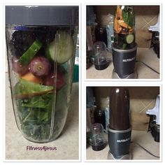 1/4 cucumber, spinach, kale, 5 grapes, papaya, blackberry,