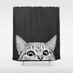 Buy Shower Curtains featuring You asleep yet? by Laura Graves. Made from 100% easy care polyester our designer shower curtains are printed in the USA and feature a 12 button-hole top for simple hanging.