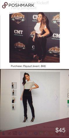 Asos Missguided jumpsuit ASO Jessie James decker Asos Missguided color block jumpsuit as seen on Jessie James Decker. Size 8. Worn once. Missguided Other