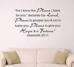 Gods plans for you wall graphic by SignGuysAndGal on Etsy, $19.00