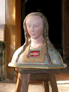 bust-reliquary of Saint Thuis in Dommartin, seventeenth century