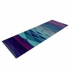 "Nika Martinez ""Hipster Girl"" Blue Lavender Yoga Mat"