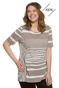 d468c948 Eco Cotton Mixed Stripe Tee Pure Clothing, Striped Tee, Plus Size Women,  Vibrant