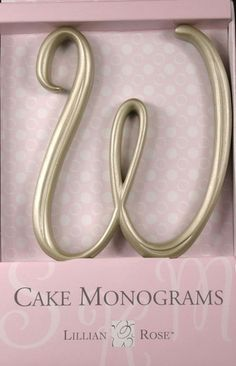 W Monogram Wedding Cake Topper by Lillian Rose Small Gold