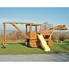 Playset - so awesome! Papa wants to know if that will fit in the back yard Casey. Playground Set, Outdoor Playground, Outdoor Fun, Outdoor Spaces, Outdoor Living, Jungle Gym, Fire Trucks, Play Houses, The Great Outdoors