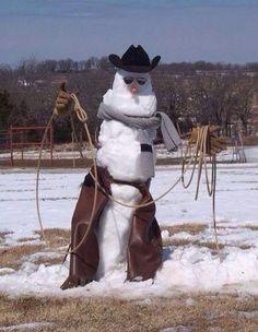 Snowman in Texas