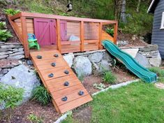 Fun backyard playground for kids ideas (35)