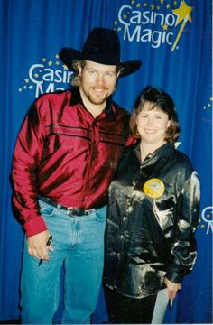 I like him mighty fine!!!  Me and Toby Keith  CASINO MAGIC BILOXI, MS