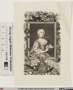 Bildnis Franziska Maria Brühl, Reichsgräfin von, geb. Gräfin Krakowsky von Kolowrat Ehefrau des sächs. Staatsministers Heinrich von Brühl (1700-1763) seit 1734; sie entstammt dem böhm. Adelsgeschlecht der Kolowrat, Linie Krakowsky)