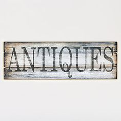 Antique Wood Sign | Wall Art and Decor| Home Decor | World Market