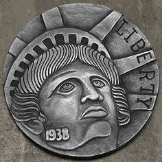 Steve Cox Hobo Nickel, Coin Art, World Coins, Us Coins, Coin Collecting, Art Forms, Sculpture Art, Carving, Metal Detector