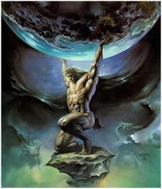 ~ Atlas - He Who Holds Up The World ~ As punishment, he was condemned to bear forever on his back the earth and the heavens and on his shoulders the great pillar that separates them.