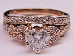 Vintage rose gold engagement rings