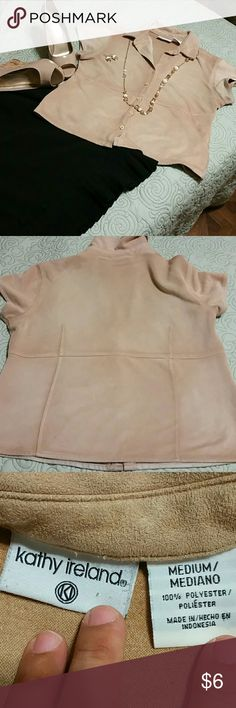 Kathy Ireland Blouse, M Suede like blouse, great for the office or casual night out. Good condition. Kathy Ireland Tops Blouses