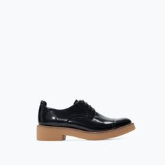 Image 1 of COMBINED LEATHER BLUCHER from Zara