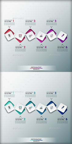 Modern Infographic Timeline Template (2 Colors) #design Download: http://graphicriver.net/item/modern-infographic-timeline-template-2-colors/9848537?ref=ksioks