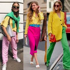 Colors outfits by Fashion Colours, Pink Fashion, Colorful Fashion, Urban Fashion, Love Fashion, Fashion Looks, Fashion Outfits, Womens Fashion, Fashion Trends