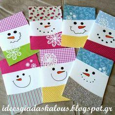 Κάρτες χιονανθρωπάκια! | Ιδεες για δασκαλους | Bloglovin'