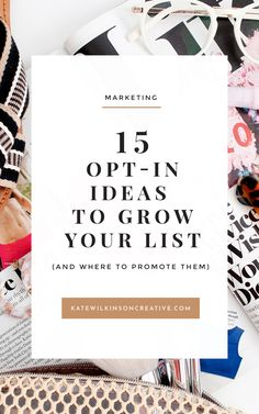 15 opt-in ideas to grow your list (and where to promote them) | Opt-ins, freebies and leadmagnets and some of the best ways to grow your email list. Over on the blog I'm sharing how to create an irresistible offer that new visitors to your website just can't refuse (and seven ways you can promote it). #emailmarketing #marketing #marketingtips #smallbusinesstips #businessgrowth  via @katewilkinsoncr E-mail Marketing, Email Marketing Design, Email Marketing Campaign, Email Marketing Strategy, Business Marketing, Content Marketing, Online Marketing, Online Business, Facebook Marketing