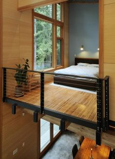 This is how I want the main bedroom in the loft to be, its sleek, eco-friendly and maintains a minimalist edge