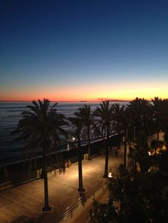 Sunset from Plaza del Mar