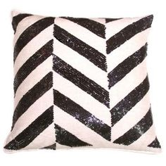 zig zags + sequins. My flat is almost all black and white so this would go perfectly at my place.