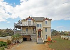 This beautiful oceanside Corolla home is a pet friendly dream! It sleeps up to 16 so you can bring the whole crew.