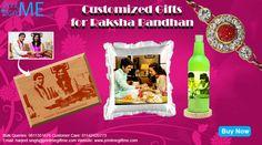 Celebrate Raksha Bandhan with personalised gifts from www.printmegiftme.com. Contact us on 011-42420773/9811351676 or harjeet.singh@printmegiftme.com.