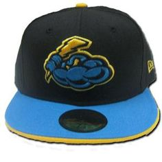 Trenton Thunder Black Light Blue Fitted Cap