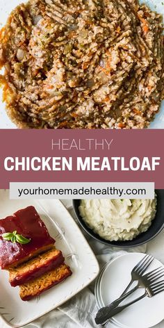 This is not your grandma's average meatloaf recipe! Healthy chicken meatloaf with hidden veggies is an excellent dinner to serve your entire family. It utilizes fresh and healthy ingredients, so you know your family will be eating a delicious, yet nutritious meal. You can easily substitute the ground chicken for ground turkey. With the added vegetables, it stays soft and moist with the best punch of flavor. Ground Chicken Meatloaf, Ground Chicken Recipes, Healthy Chicken Recipes, Healthy Dinner Recipes, Hidden Veggies, Ground Turkey, Nutritious Meals, Punch, Main Dishes
