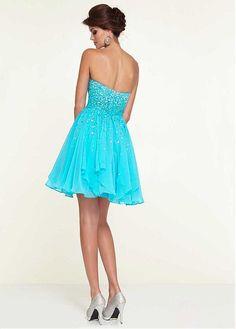 Chic Chiffon Sweetheart Neckline Knee-length A-line Homecoming Dress