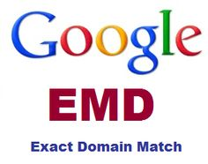 "What is Exact Match Domain penalty in Google?  EMD means the use of your possible search term matches with your website URL. Ie.howtoinvestinshare.com is your URL ""How to invest in share"" is an exact phrase which the user may type into Google while looking for any share advice. So Google soon could be penalize those sites with and an exact phrase found in the URL—considering that as an unfair advantages over other sites. EMD is just a Google's method of cracking down on these sites"