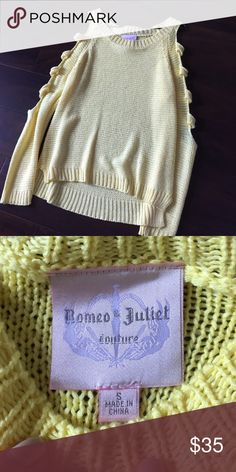 Romeo and Juliet.. Yellow sweater. Worn once. Super cute Romeo & Juliet Couture Tops Blouses
