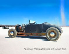 "Photo creation by Beacham Owen ""El Mirage"" 1950s scene of a Ford Model T at El Mirage Dry Lake in Southern California. 30x24."
